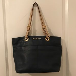 Michael Joe's navy mini tote style bag